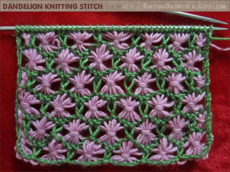 Two color dandelion knitting pattern   |  knittingunlimited.blogspot.com