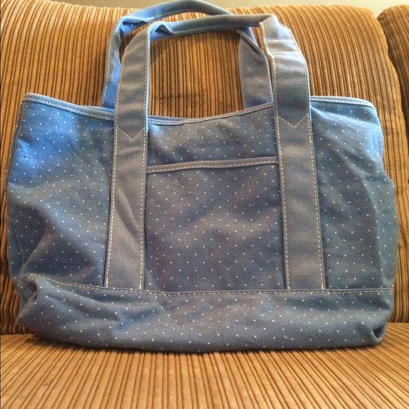 Gap Handbag Blue gap handbag with small white polka dots. Made with 100% cotton. Never used. GAP Bags