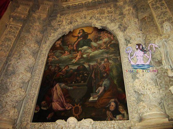 L'interno della chiesa matrice dedicata a M. SS. Annunziata a Casarano (provincia di Lecce), Altare dell'Assunzione della Vergine, XVII secolo