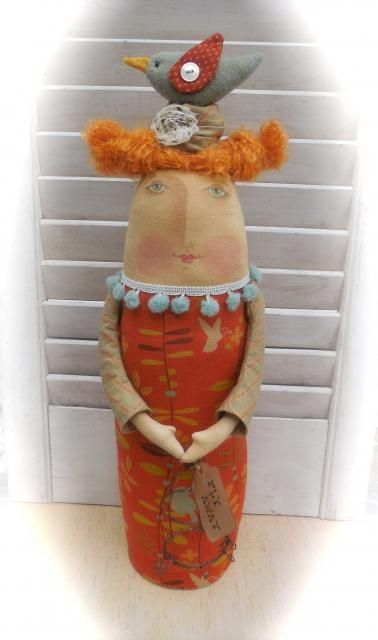 Primitive Folk Art Trinkets and Treasures Market Place
