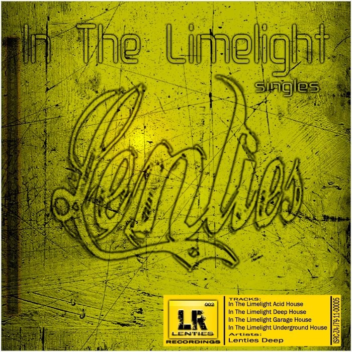 Lenties Deep - In The Limelight [Singles]  For fun of #lenties #deephouse, #acidhouse, #garage, #undergroundhouse and #soulful house.     Review: This track has a good solid groove which is complimented by the killer snares and smooth chords that make you dance like you are alone in the dance flow.  (p) & (c) 2011 Lenties Recordings