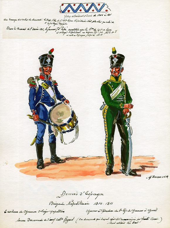 Naples; 1st Light Infantry, Chasseur Drummer & 2nd Chasseurs a Cheval, Chasseur in Spain