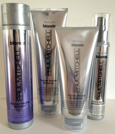 Purple Paul Mitchell Platinum Blonde shampoo <3