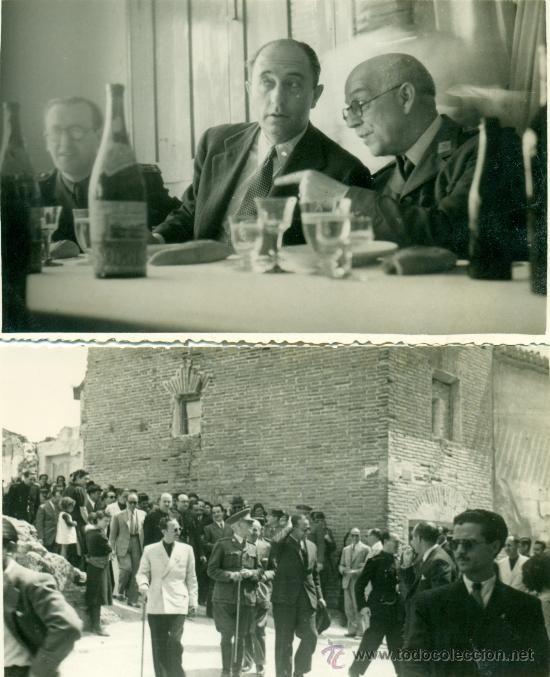 ZARAGOZA. BELCHITE.GUERRA CIVIL. RECONSTRUCCIÓN DEL PUEBLO. AÑO 1944. 4 POSTALES FOTOGRÁFICAS . (Postales - España - Aragón Moderna (desde 1...