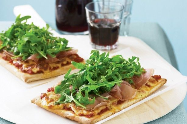 Just six ingredients combine to create this pizza which packs a flavour punch with prosciutto, rocket and mozzarella.