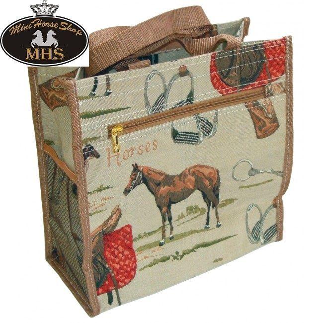 Bestel nu deze mooie #boodschappentas met #paardenprint bij de #Minihorseshop.nl! De grootste webshop voor kleine paarden.