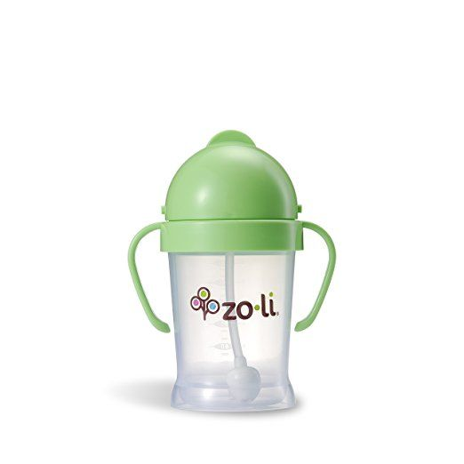Amazon.com : ZoLi BOT Straw Sippy Cup - Green 6 oz : Baby Drinkware : Baby