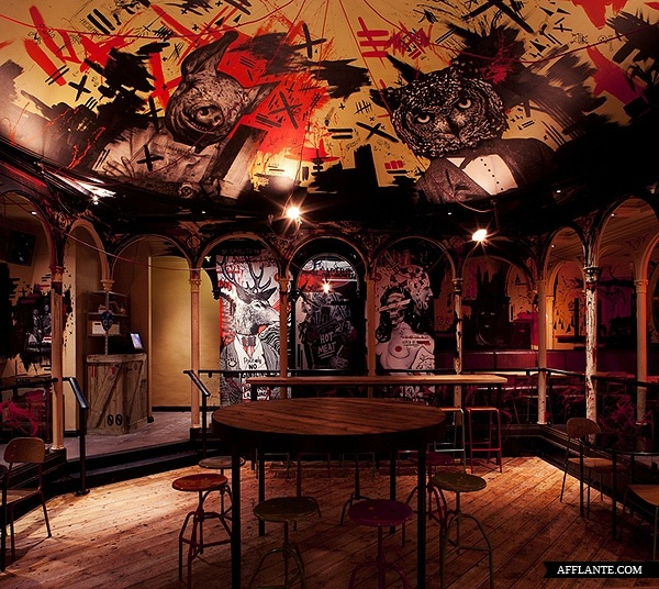 Meat Liquor; bourbon and burgers all above a strip club. http://barchick.com/find-a-bar/london/meat-liquor