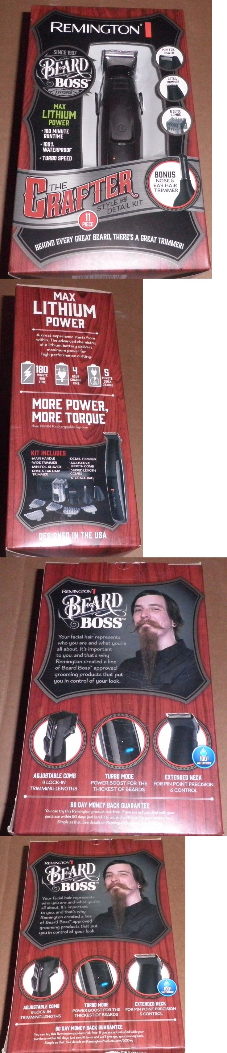 Clippers and Trimmers: Remington The Crafter Beard Boss Style And Detail Shaver Kit (11 Pcs) Pg6171-New BUY IT NOW ONLY: $33.33