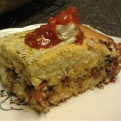 Hot Tamale Pie Allrecipes.com -  looks like another fast, fun and fab fall dinner .....but NO corn.....and Jiffy cornbread mix has sugar.......ick to sweet cornbread.........I use a mix that is great...........cannot think of the brand.........grrrrrrrrrrrrr