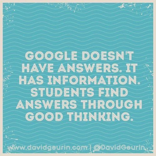"David Geurin on Twitter: ""Inquiry is not searching for an answer. It's thinking in ways that lead to understanding. #ISTE2016 #edchat https://t.co/FEs74MzAtK"""