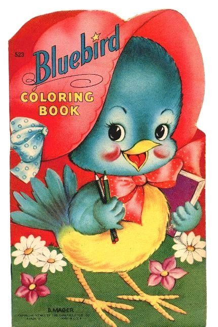 Bluebird Vintage Coloring Book