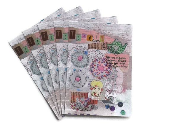 Tea party multi pack postcards  party invites by maxollieandme