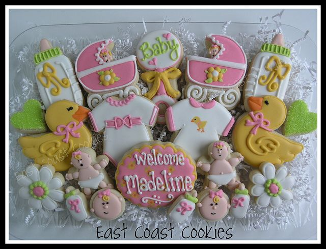 'Welcome' - Baby girl platter by East Coast Cookies, via Flickr