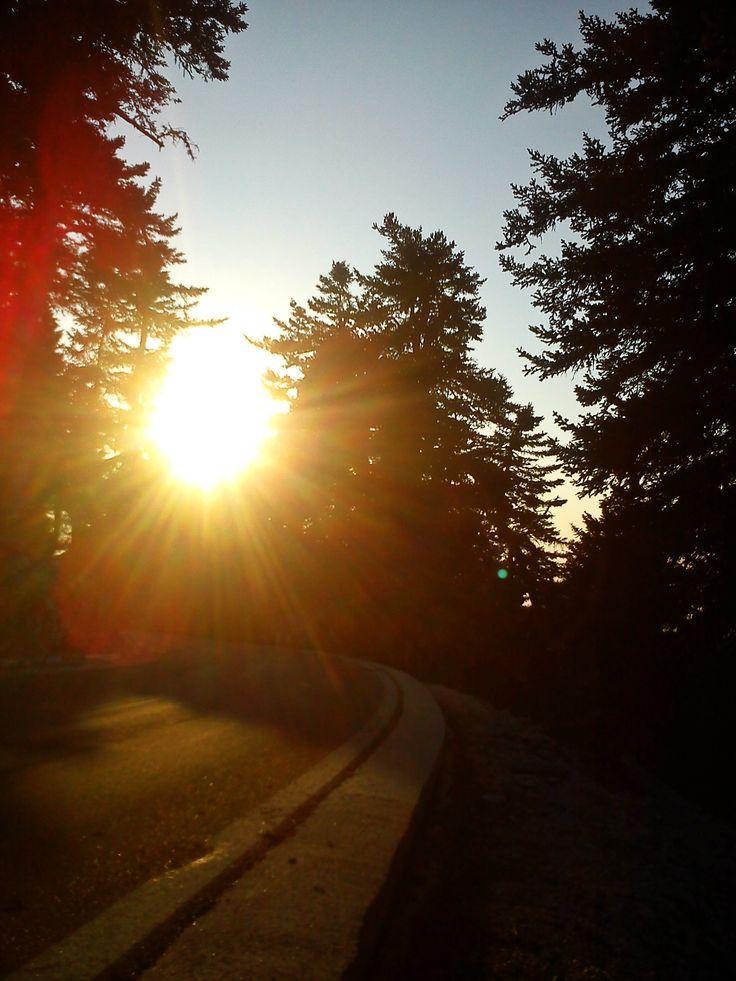 #mountain #aenos #sun