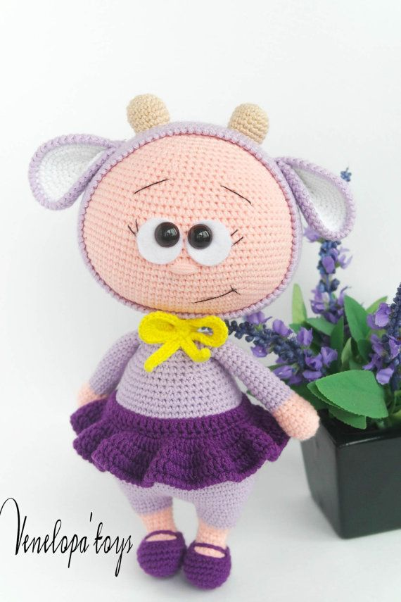 Doll With Lamb Costume Stuffed Toy
