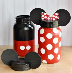 Using paint and mason jars