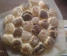 Rezept Party brötchen kranz von britta1310 - Rezept der Kategorie Brot & Brötchen