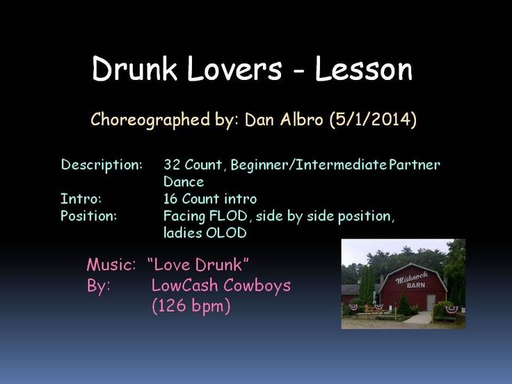 Drunk Lovers Partner Dance Lesson, Dan Albro.  Taught at the MCVDA Dance Workshop at the Silver Spur, East Moline, IL on 15 Nov 2014.