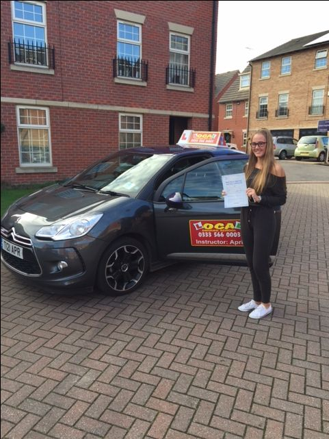 🎉🎉🎉Congratulations🎉🎉🎉 To Megan Stace who passed her practical driving test first attempt with only two minor driving faults (excellent result) in Doncaster on the 4th November 2016 😊 Well done from your instructor April and all the team at Local Driving School 🚘   http://www.localdrivingschool.co.uk/driving-school-doncaster.html