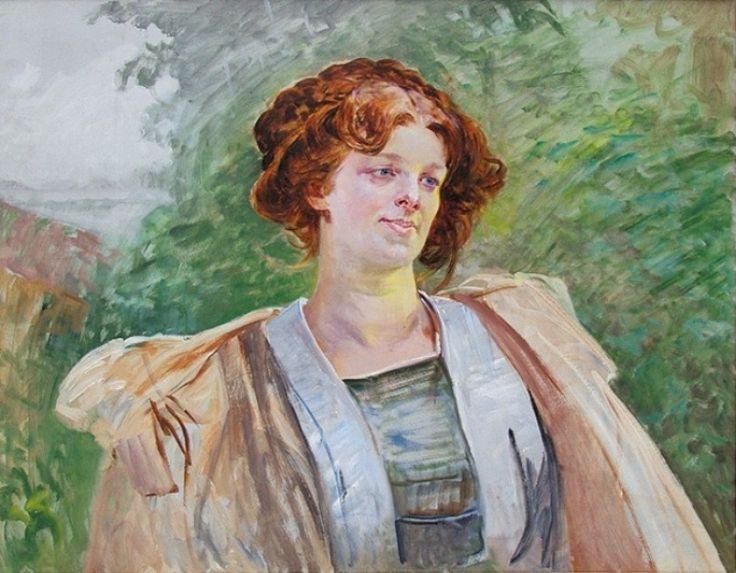 Jacek Malczewski - Portrait of Leontyny Gogulski