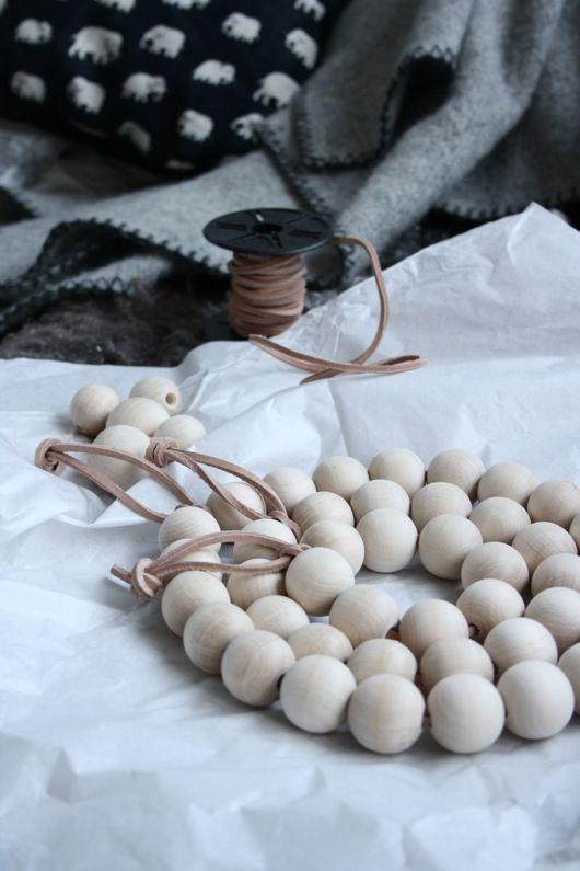 DIY wooden bead trivet