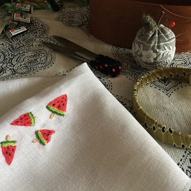 mini melon popsicle embroidery