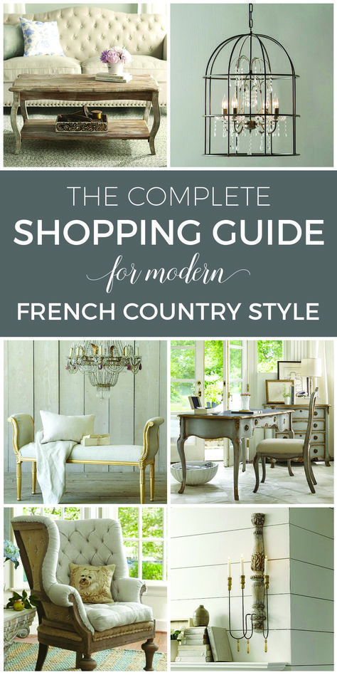 It doesn't have to cost a fortune to buy gorgeous French Country furniture! These affordable and beautiful pieces will deliver modern French style within any budget. Amazing curated selections in this shopping guide!! Add French charm to your home now! Complete source list with direct links to buy now | designthusiasm.com