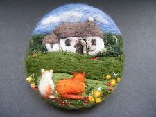 Handmade needle felted brooch/Gift    ' Home,Sweet home'       by Tracey Dunn