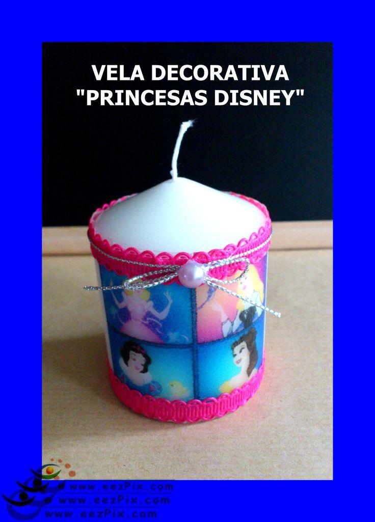 vela decorativa princesas