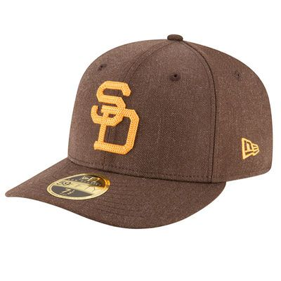 San Diego Padres MLB Cooperstown Heather Crisp Low Profile Fitted 59FIFTY Hat - Brown