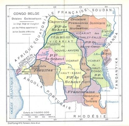 - Canon law organization in the Belgian Congo depicting where...