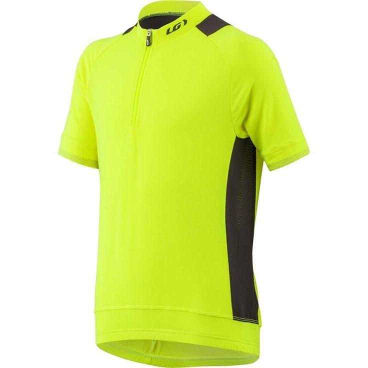 Louis Garneau Youth Lemmon Jr Cycling Jersey, Boy's, Size: XL, Bright Yellow