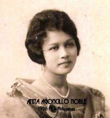 Anita Agoncillo noble first miss Philippines was crowned in 1926.