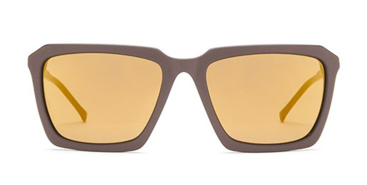 THE RIGHT ANGLE I Rectangular shape with angular facets for a sharp look.  Otter is a rich solid brown.