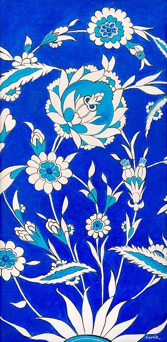 Floral Painting - Floral Iznik by Pamir Thompson