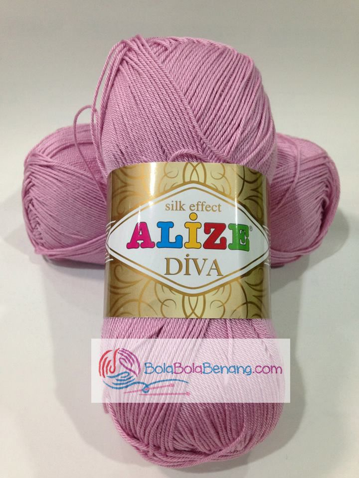 ALIZE DIVA PLAIN 291 Rose, Price: 90.000,-/gulung, Bahan: 100% Microfiber Akrilik, Berat/Panjang: 100gr/350m, Knitting Needles: 2,5mm – 3,5mm, Crochet Hook: 1mm - 3mm