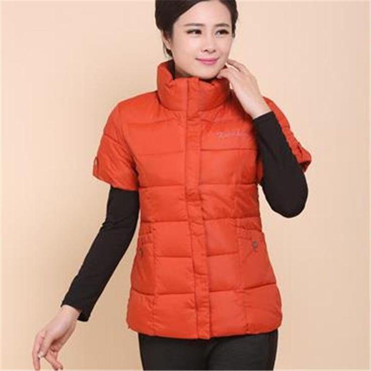 Woman Autumn Plus Size Thick Down Vest Female Spring Oversized Warm…
