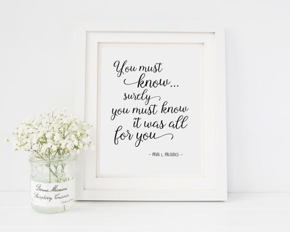 Pride and Prejudice Quote  Jane Austen  You must by TheBookerie