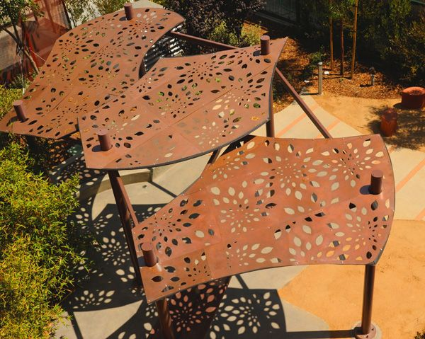 13 best images about public art ideas on pinterest for Metal sun shade structures