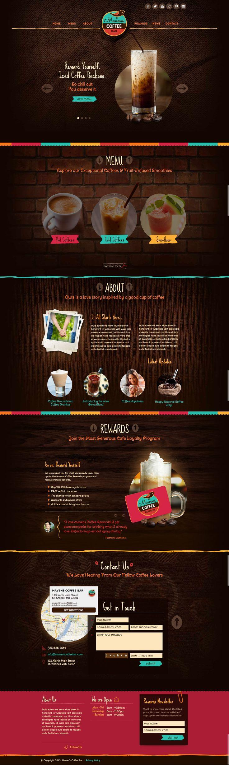 Mavens Coffee Template #webdesign #template
