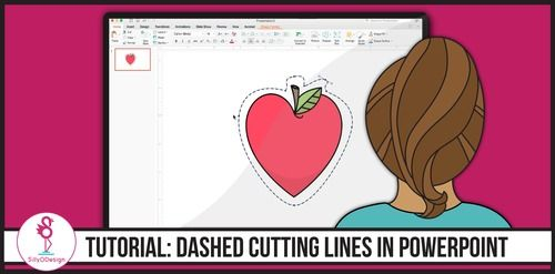 How to Create Cutting Lines Around Clip Art in PowerPoint by SillyODesign