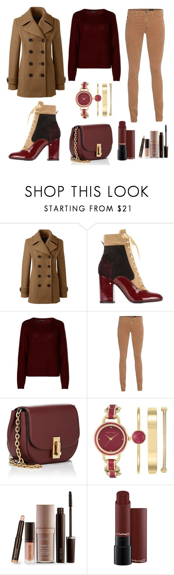 """Warm mix of colours!!!"" by giovanna-222 on Polyvore featuring Lands' End, Laurence Dacade, 360cashmere, AG Adriano Goldschmied, Marc Jacobs, Anne Klein and Laura Mercier"