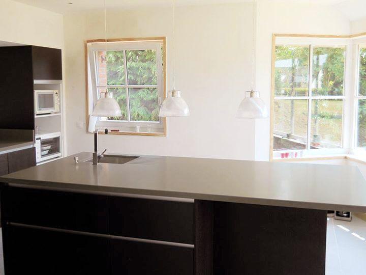 plan de travail cuisine en composite silestone insui rainurage int gr pierre reconstitu e. Black Bedroom Furniture Sets. Home Design Ideas