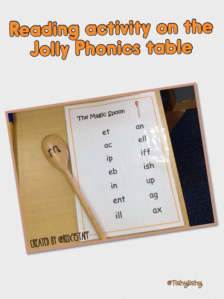 Reading activity. Change sound on the spoon. Could be beg, or end sound. Have a variety of words to combine with. Via @roxystaff