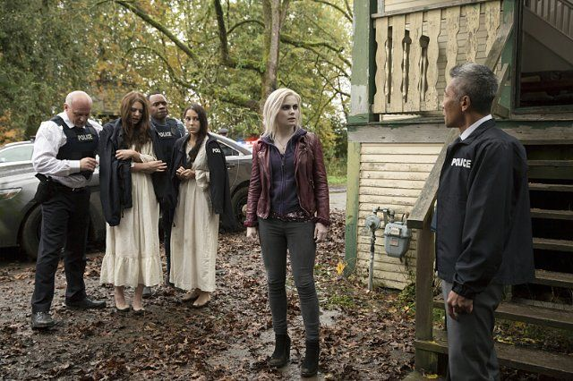 Malcolm Goodwin, Hiro Kanagawa, and Rose McIver in iZombie (2015)