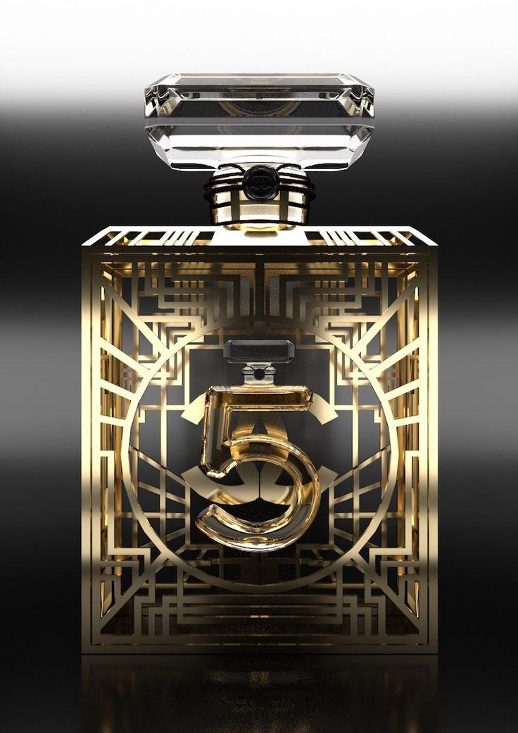 BOOK 2016 Etude et modélisation en 3D du parfum N°5 de Chanel Rendu Blender Cycles