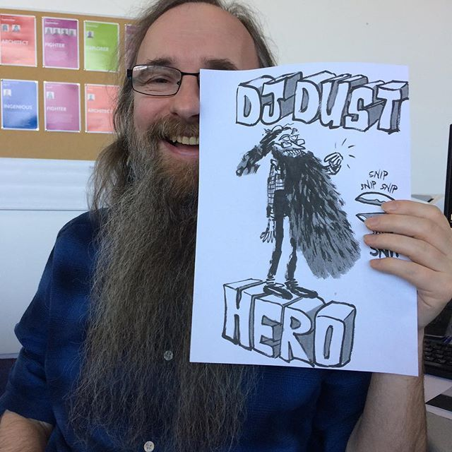 My mate Darren is getting his beard shaved off to raise money for Alzheimers Research. He is the definition of epic; seriously hes been in doctor who ! Find out more about this serious shave here - http://ift.tt/2EO4aV3 #beard #charity #sponsoredshave #alzheimers #djdustisepic #hero