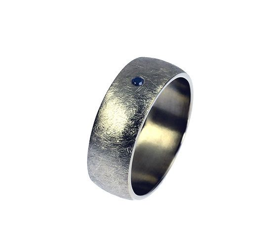 palladium wedding band blue sapphire ring mens wedding ring men blue sapphire band wide ring men palladium commitment modern unique