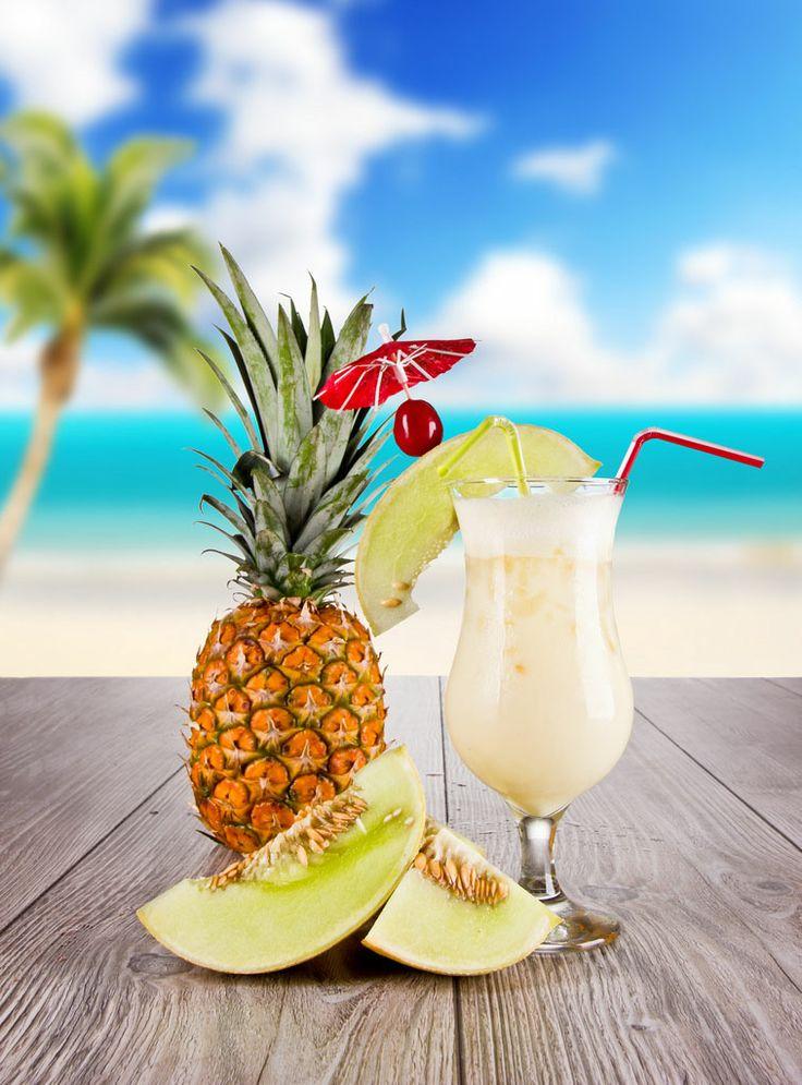 Pina Colada koktél - #Bacardi White #Rum, Kókusz szirup, #Tiki koktél